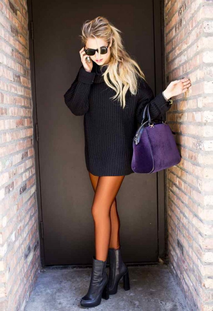 chunky black sweater 4