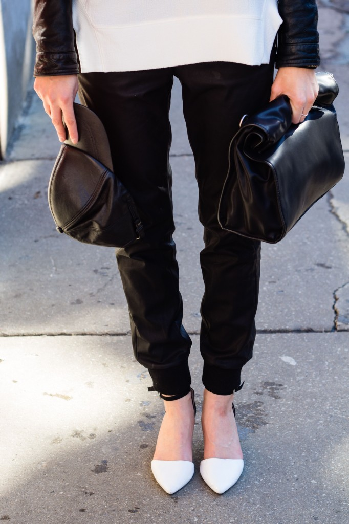 Black Leather Track Pants 6