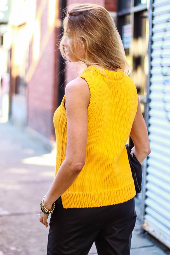 Zara knit orange sweater 2014