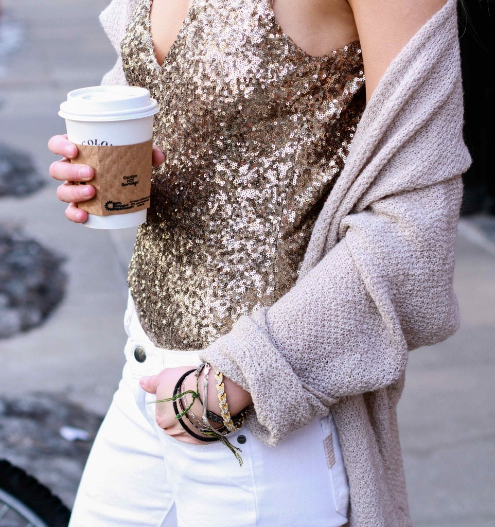 how to wear winter neutrals and casual sequins in 2014