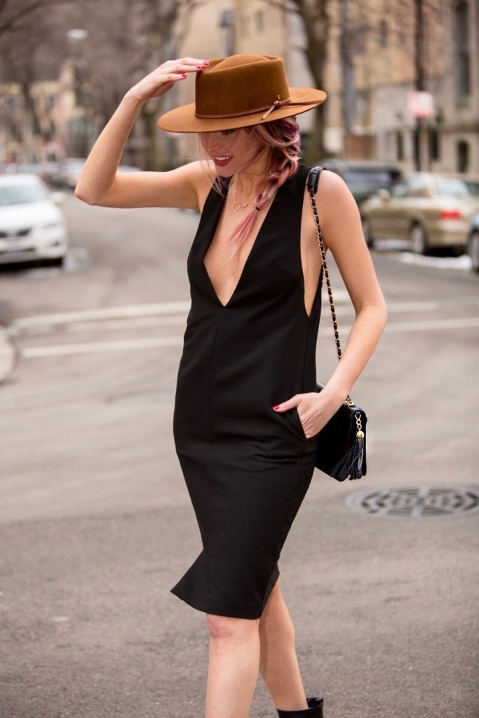HM Black Dress Brixton Hat 683x1024 New LBD