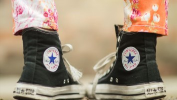 Converse-and-florals